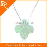 925 silver jewelry necklace with charming flower opal pendant necklaces