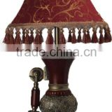 Dark Red Antique European antique desk lamp telephone for sale