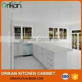 Hot sale pure white bake polish mdf board kitchen cabinet manufacturer