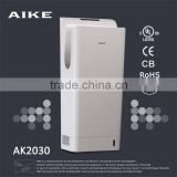 AK2030 Bathroom Electric Automatic high speed jet hand dryer with HEPA Filter , UV Light , UL CE RoHs CB