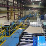 Automatic continues garage door panel, wall panel, and roof panel production lines, producing machines