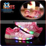 Kids luminous led air cushion sport running shoes , led light flashing sport shoes , led light up running