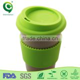 Biodegradable rice husk fashionable coffee paper cup design