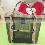 new fashion summer swimming mesh beach tote bag protable net receive bag