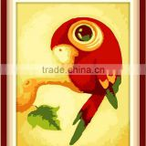cheap price 5D highlight main picture Animal type parrot 2.5mm round stone diamond Painting                                                                         Quality Choice
