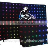 2015 Size 2*3m+1*2m full colour led curtain,3in1 led star cloth,quad colour led starcloth