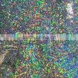 1mm Hologram laser silver color Glitter Powder for christmas decoration
