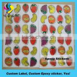 Custom double-sided adhesive label 3D snow epoxy dome sticker adhesive Christmas emblems label
