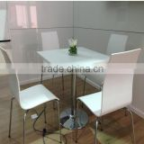 Acrylic soid surface Restaurant dining tables and chairs ,fast food table,artificial stone tables
