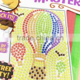 DIY toy peel and stick by numbers kids mosaic art kit