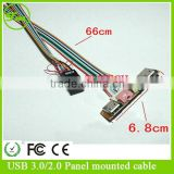 USB A Audio Output Front Panel Lead Cable for PC Computer Motherboard