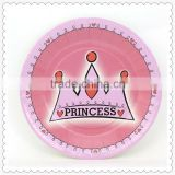Wholesale high quality disposable princess theme paper plate raw material for kids birthday party supplies