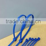 150C degree Aqua blue color resistance Tefzel cable tie with label