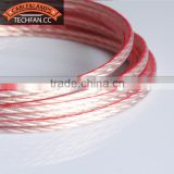 New design tined CCA pvc ofc high class speaker cable round frosted 16AWG audio speaker cable
