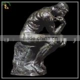 Antique Bronze,Brass,Cast Iron Metal Figure Statues The Thinker