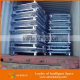 Aceally Foldable Galvanized metal cage pallet