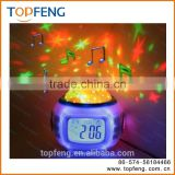 Music PROJECTOR clock watch stars night lights bright dim kids child