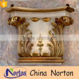 home carved craft luxury stone column pilaster capitals NTMF-CP018Y