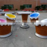Ice cream table and chair for hotel or bar