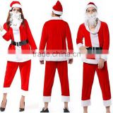 Wholesale Men and Woman Outdoor Sitting Dancing Blank Christmas Santa Claus Costume Clothing Apparel Manufactring Factory Online