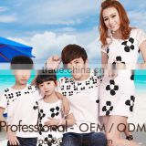 hot summer sweet family t shirt sets black flower printed dress set family love clothing sets