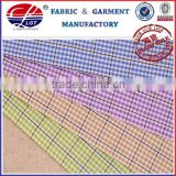 wrinkle free bamboo fiber fabric(bamboo 50%,micro fiber 50%) for men shirt, yarn dyed checked fabric, uniform shirt wholesale