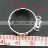 10 PCs Adjustable Silver Tone Ring Base Blank 6 Loops Findings 19mm(US 7),Jewelry