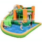 2013 new inflatable splash tunnel slide