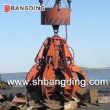 electric hydraulic orange peel grab bucket for scrap loading & unloading