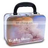 High quality custom tin lunch box with handle