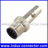 Equivalent to antenna shielded m12 4 contacts female a code connector for industry