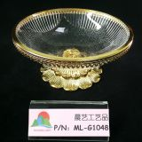 Glass gold bowl