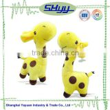 Lovely small plush giraffe baby toy,baby bed hanging toy