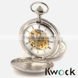 Antique Skeleton Mechanical Pocket Watch custom enamel pocket watch,fashion enamel pocket with pocket chain Necklace