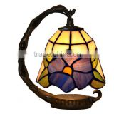 tiffany table lamp creative stained glass becautiful flower mini night light LED decoration light