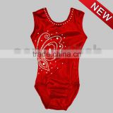 High quality foil fabric gymnastic leotard