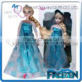 Mini Qute wholesale Kawaii High Quality Plastic cartoon Frozen doll princess anna & elsa olaf girls with Olaf kid children toy