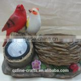 Polyresin Solar Power Bird Figurine Decoration                                                                         Quality Choice