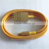 New products 2016 chinese factory hot sales usb cable gold-plated usb charging cable for iphone