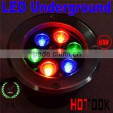 2013 RGB 6w led underground light IP68 waterproof 85~265V CE RoHS