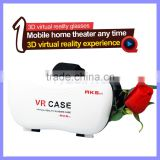 Plastic VR Google Cardboard 3D Glass Virtual Reality 3D Glasses VR Box Case for Smart Phone Galaxy S6 Edge S7