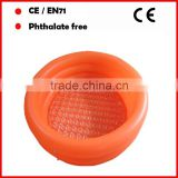 orange color pvc inflatable swimming pool for adults with crystal bottom