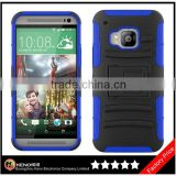 Keno Tough Rugged Layered Extreme Hybrid Belt Clip Holster Mobile Phone Back Cover for HTC One M9
