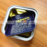 square wax tin can; paste wax tin; square tin; car wax packaging