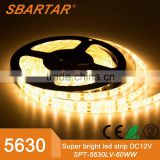 5630 5M 16.4Ft Waterproof 300 LEDS 60LEDs/m LED Strip Flexible lamp light with DC connector Cable