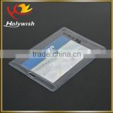 Cheap custom half-hard pvc transparent waterproof ID card holder