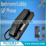 Waterproof voip phone hotel bathroom telephone