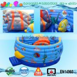 sea world bouncing castle inflatable for toddler,fish inflatable jumping castle big inflatable bouncer castle for kids