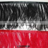 BLACK Ostrich Feather trim for garment dress LZXZ00536