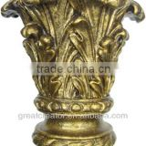 Home Decor Leaf Curtain Rod Finials Curtain Accessories and Bed Finials